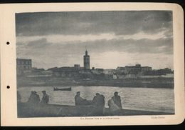 Photogravure MAROC --  La Darse A Contre - Jour    ( Cliche Chelles )   Dim 11 Cm X 16 Cm - Photographie