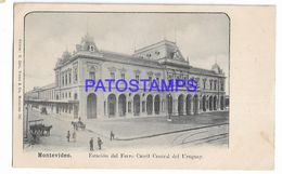 137219 URUGUAY MONTEVIDEO STATION TRAIN ESTACION DE TREN CENTRAL POSTAL POSTCARD - Uruguay