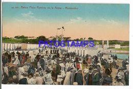 137221 URUGUAY MONTEVIDEO BATHS BAÑOS PLAYA RAMIREZ EN LA ARENA POSTAL POSTCARD - Uruguay
