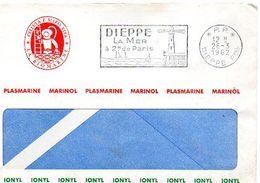 C7 1962 Lettre En PP Entete Société Biomarine (scaphandrier...) DIEPPE - 1961-....