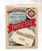 ETIQUETTE TRIPLE SEC , GRANDE DISTILLERIE FERNAND BLANCHET A ALBI - Etichette
