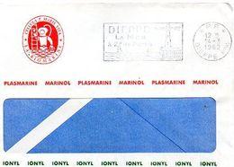 C7 1962 Lettre En PP Entete Société Biomarine (scaphandrier...) DIEPPE - Marcophilie (Lettres)