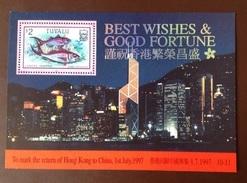 Tuvalu 1997 Hong Kong Fish Minisheet MNH - Fische