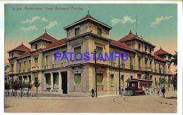 137222 URUGUAY MONTEVIDEO HOTEL BALNEARIO POCITOS & TRANVIA TRAMWAY POSTAL POSTCARD - Uruguay