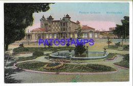 137226 URUGUAY MONTEVIDEO PARQUE URBANO & FUENTE POSTAL POSTCARD - Uruguay