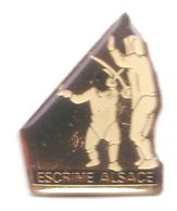 C48 Pin's ESCRIME ALSACE Achat Immédiat - Scherma