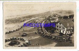 137228 URUGUAY MONTEVIDEO PLAYA CARRASCO & AUTOMOBILE CAR POSTAL POSTCARD - Uruguay