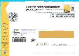 Lettre Recommandée Mobile Prétimbrée R1 AR 50 Gr Suivi  Et Signée Oblitération Toshiba - Postal Stamped Stationery