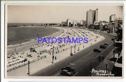 137232 URUGUAY MONTEVIDEO POCITOS VISTA DE LA PLAYA & AVENIDA POSTAL POSTCARD - Uruguay