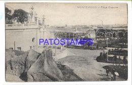 137234 URUGUAY MONTEVIDEO PLAYA CAPURRO YEAR 1918 POSTAL POSTCARD - Uruguay