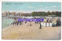 137236 URUGUAY MONTEVIDEO BEACH PLAYA RAMIREZ POSTAL POSTCARD - Uruguay