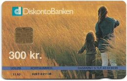 Denmark - Danmønt - DiskontoBanken - DD016 - 300Kr. Exp. 11.1993, 1.250ex, Used - Danemark