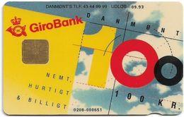Denmark - Danmønt - Girobank & Posten - DD013A - 100Kr. Exp. 09.1993, 1.250ex, Used - Danemark