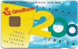 Denmark - Danmønt - Girobank & Posten - DD031A - 200Kr. Exp. 05.1995, 1.250ex, Used - Danemark