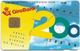 Denmark - Danmønt - Girobank & Posten - DD031B - 200Kr. Exp. 07.1996, 1.854ex, Used - Danemark