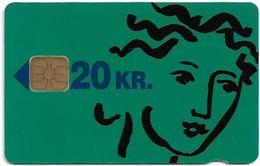 Denmark - Danmønt - Woman (Green Font) - DB007 - 20Kr. Exp. 09.1993, 2.311ex, Used - Danemark