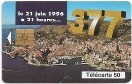 Monaco - MF41 (626) - 377, Changement Numérotation - Cn. A Xxxxx626 - 06.1996, Solaic Afnor, 50Units, 52.000ex, Mint - Monaco