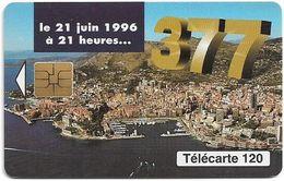 Monaco - MF42 - 377, Changement Numérotation - Cn. A Xxxxx467 - 06.1996, Solaic Afnor, 120Units, 100.000ex, Used - Monaco