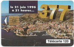 Monaco - MF42B - 377, Changement Numérotation - Cn. A Xxxxx638 - 06.1996, Solaic Afnor, 120Units, 100.000ex, Used - Monaco