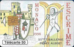 Monaco - MF40 (005) - Escrime - Cn. Bxxxxx005 Gem1A Symmetr. Black, 05.1996, 50Units, 52.000ex, Used - Monaco