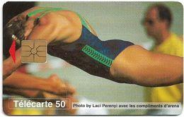 Monaco - MF39A - Natation, Swimming - Gem1A Symmetr. Black, 05.1996, 50Units, 52.000ex, Used - Monaco