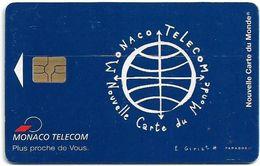 Monaco - Monaco - MF53 - Nouvelle Carte Du Monde (blue) - Gem5 Red, 10.1996, 50Units, 50.000ex, RECHARGEABLE CARD, Used - Monaco