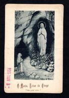 Calendrier 1934 - O Marie Reine Du Clergé - Publicité AU PALAIS DU ROSAIRE ( Lourdes, Lisieux ) Objets De Piété - Devotion Images