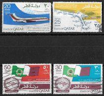 Qatar 1974 Arab Civil Aviation Day Complete Set Used - Qatar