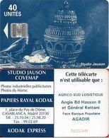 Morocco - Studio Jauson (Blue) - Agrico Sud Logistique, Angle Bd Hassan II (NO Innovatron), 40Units, Used - Maroc