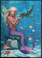 Siren Mermaid Carte Postale - Advertising