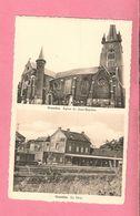 C.P. Gosselies = La  GARE  +  Eglise St. Jean-Baptiste - Charleroi