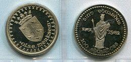 1982 - Merksem - 100 Eduardjes - OLSE Merksem - Token - Penning - - Nr 129 - Pièces écrasées (Elongated Coins)