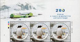 Ukraine - 2020 - 200 Years Since Antarctica Discovery - Mint Stamp Pane With Issue Title - Ukraine