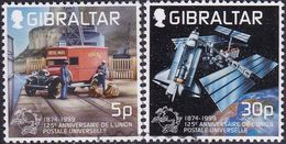 GIBRALTAR 1999 SG #881-82 Compl.set Used 125th Anniv UPU - Gibraltar