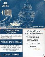 Morocco - Studio Jauson (Blue) - Teleboutique Messaoudi 101, Av. Hassan II (With Innovatron), 40Units, Used - Maroc