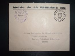 LETTRE MAIRIE OBL.21-10 1969 85 LA FERRIERE VENDEE - Marcofilia (sobres)