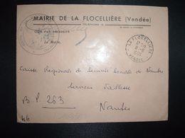 LETTRE MAIRIE OBL.11-6 1966 LA FLOCELLIERE VENDEE (85) - Marcofilia (sobres)