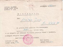 5861  --SLOVENIJA--KRSKO  NAKAZNICA - Documents