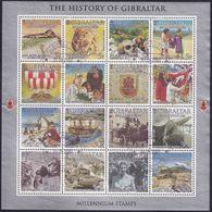 GIBRALTAR 2000 SG #916-31 Sheetlet Used New Millenium - Gibraltar