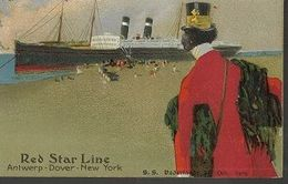 L20//   RED STAR LINE    H.CASSIERS   ANTWERPEN DOVER NEW YORK    ZELDZAAM!!? - Dampfer