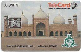 Pakistan - TeleCard - L&G - Mosque - SC5 SB - Cn. 44114, 30U, Used - Pakistan