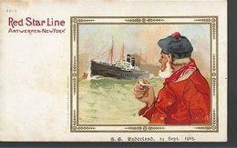 L20//   RED STAR LINE    H.CASSIERS   ANTWERPEN  NEW YORK   SS VADERLAND 1905 - Dampfer