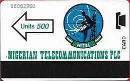 Nigeria - Nitel - Autelca - Nitel Arrow & Logo, 500Units, Used - Nigeria