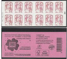 CARNET GUICHET MARIANNE DE CIAPPA 20g. Daté 16.10.14 - Usage Courant
