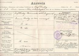 AUSWEIS Für Schüler über Die Vermögens-, Einko …, 1915, Dokument A3 Format, Gefaltet - Historical Documents