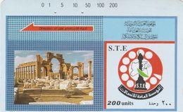 Syria, SY-STE-0015, 5 - Trails Tdmr & Logo,  2 Scans. - Siria