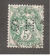 Perforé/perfin/lochung France No 111 SH Siegel & Hommay - France