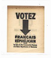 """1945 CONSTITUTION IV° REPUBLIQUE REFERENDUM """"si PETAIN était Libre ....""""  PARTI COMMUNISTE FRANCAIS P.C.F. - Historical Documents"""
