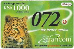 Kenya - Safaricom - Leopard 072, Exp. 31.03.2003, GSM Refill 1.000KShs, Used - Kenya