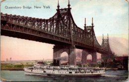 New York City Steamer Going Under Queensboro Bridge - Ponts & Tunnels